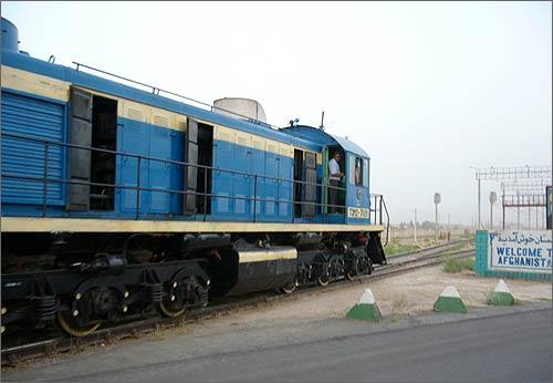 Узбекский тепловоз в Афганистане