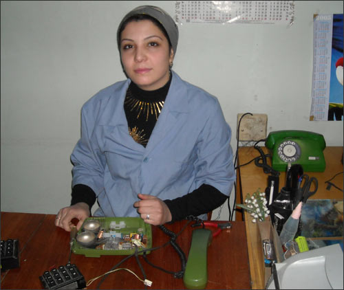 Khursheda Nuriddinova – the electrician