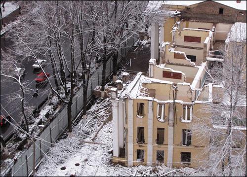 Снос здания бывшей Ташкентской консерватории