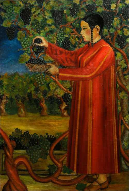 Бяшим Нурали. Сбор винограда. 1929 г.