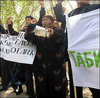 What is the true purpose of the anti-Tajik protests in Uzbekistan?