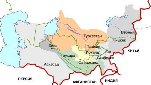 Примерная карта Туркестанского края