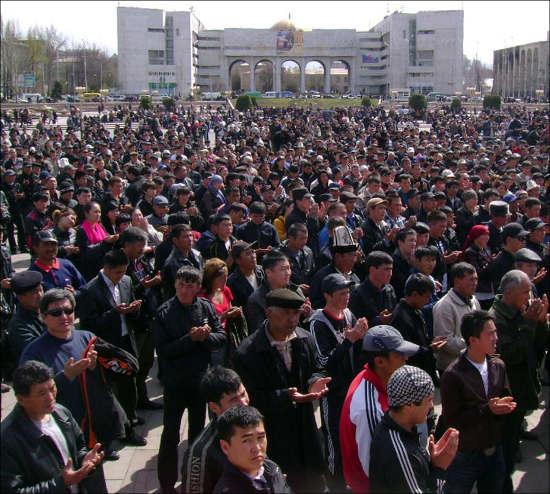 Траур в Бишкеке