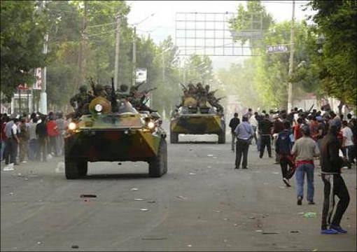 Улицы Оша утром в пятницу, 11 июня 2010 года. Фото Reuters