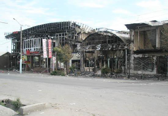Ош. Район Фрунзенского рынка. Фото Фергана.Ру