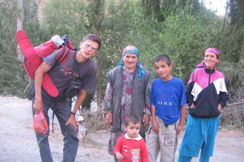 Дмитрий Попов в Таджикистане