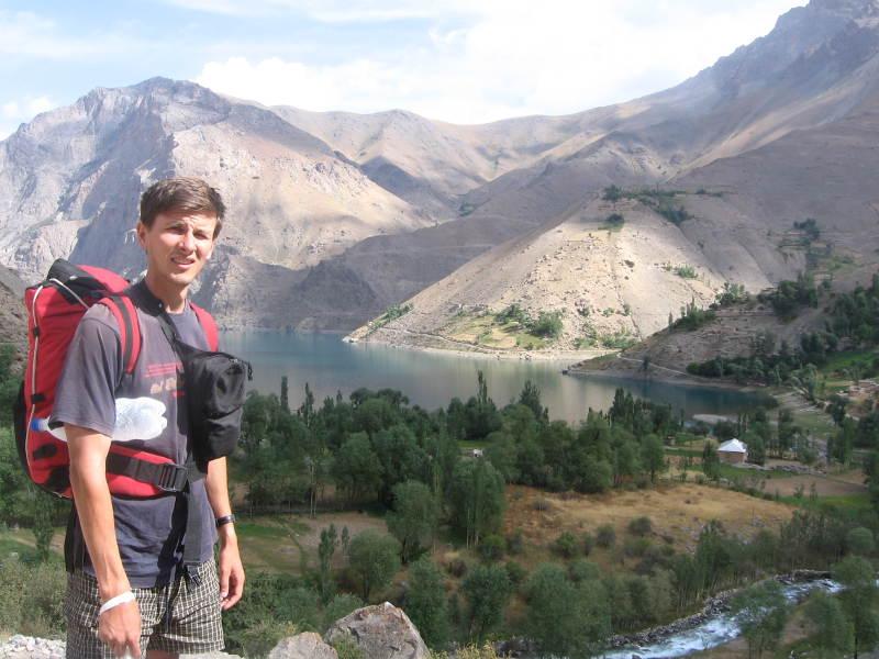 Дмитрий Попов в районе Семи озер рядом с Пенджикентом (Таджикистан)