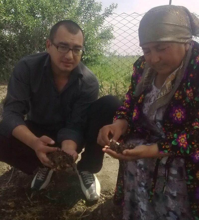 Дильшод Усманов в гостях у фермера-компаньона Мархабат-опы