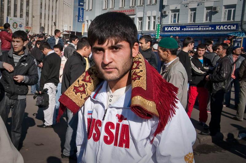 Мусульмане на улицах Москвы