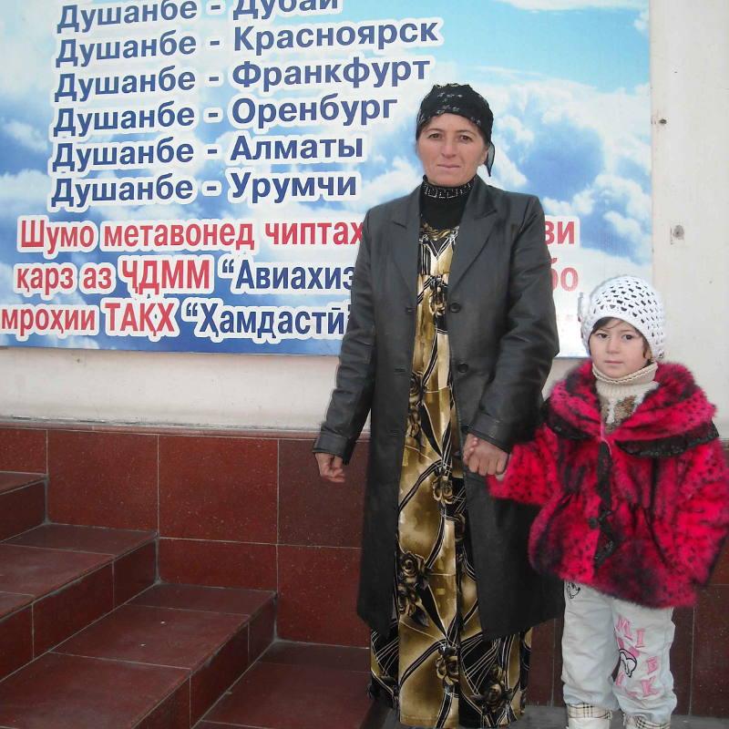 Семьи таджикских мигрантов
