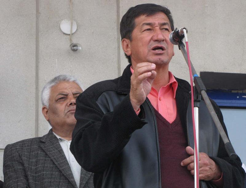 На митинге в Джалал-Абаде 10 апреля 2010 года