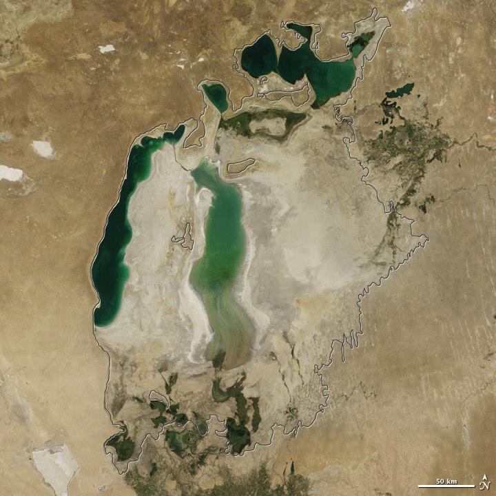 Как высыхало Аральское море