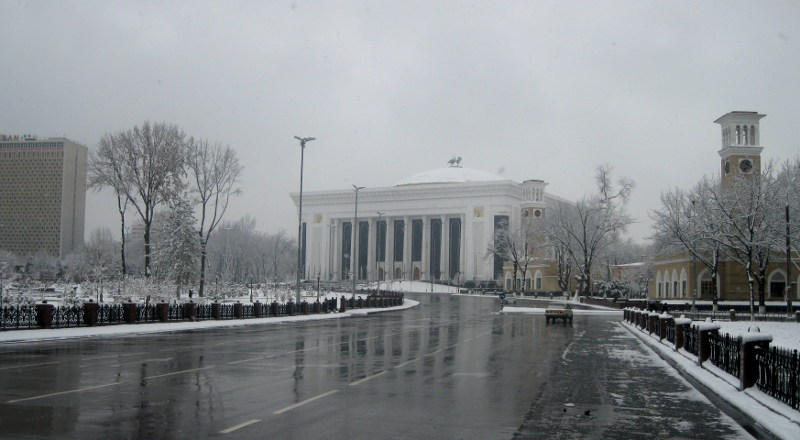 Часть Сквера и Дворец Форумов