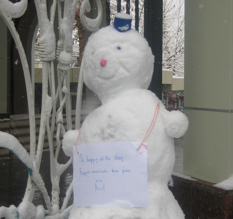Ташкент, снеговик