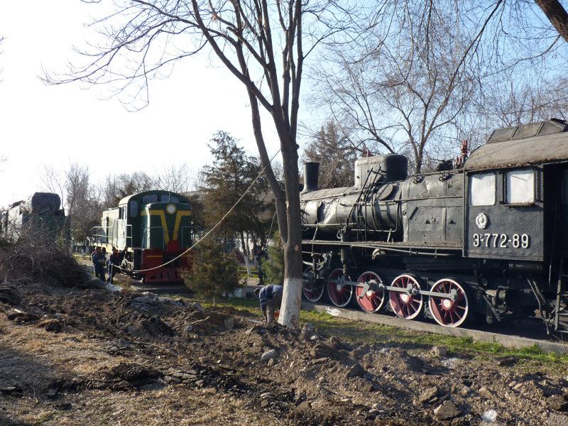 Работы по реконструкции района коснулись и музея железнодорожной техники