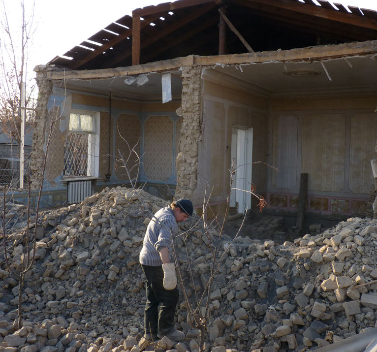 Снос жилых домов в районе Тезиковки