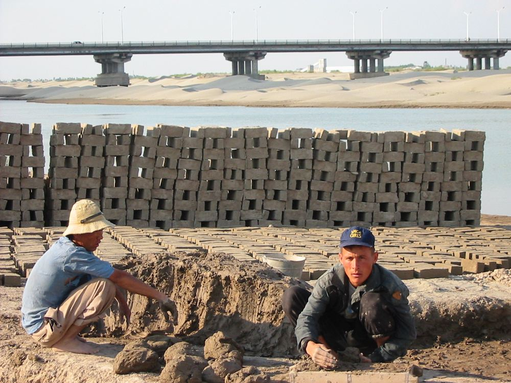 Brick-makers in Karakalpakstan