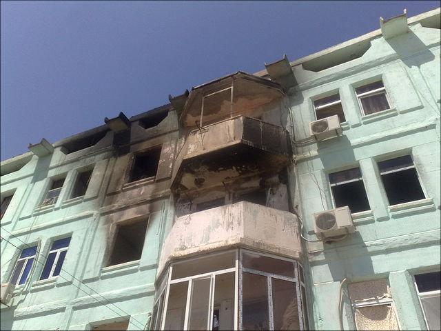Последствия взрывов в Абадане