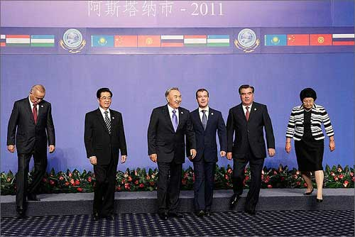 Sommet de l'OCS, juin 2011, Astana, Kazakhstan