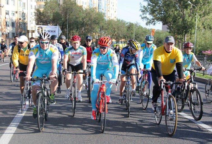 Велопробег в Алматы