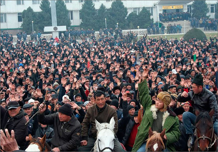 A rally in Osh