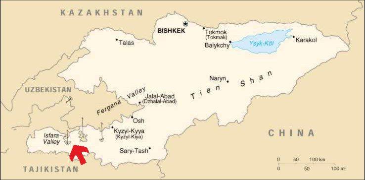 Спорные территории между таджикистаном и узбекистаном