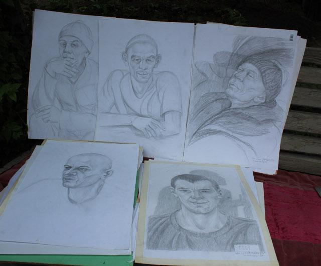 Рисунки Азимжана Аскарова