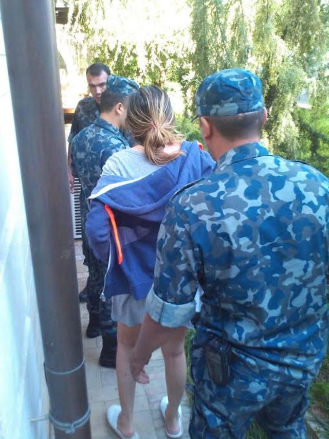 Гульнара Каримова и охранники