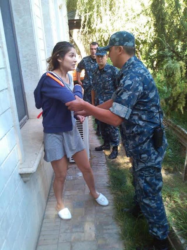 Гульнара Каримова и охрана