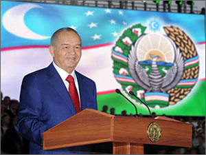 Uzbekistan: Festivities for the chosen few, the nation only seen in the crowd scene!