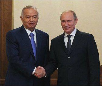 Путин и Каримов
