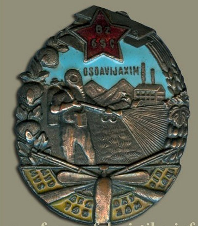 Знак ОСОАВИАХИМ УзССР