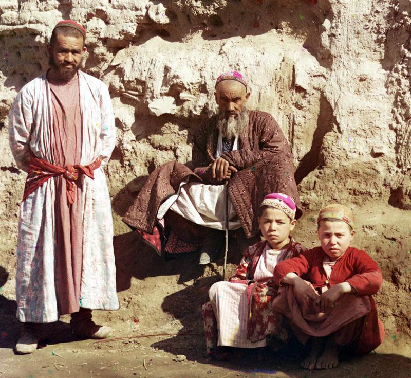 Типы сартов. Самарканд. Фото С.М.Прокудина-Горского. Прим. 1910 год
