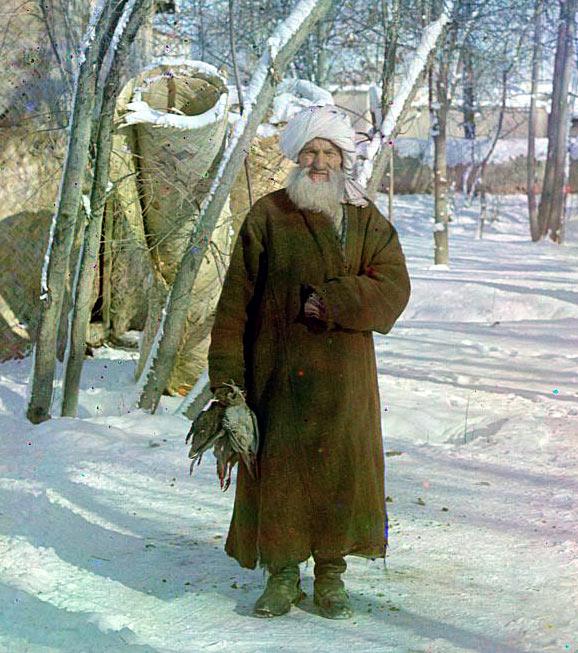 Старик-сарт («бабайка»). Самарканд. Фото С.М.Прокудина-Горского. Прим. 1910 год
