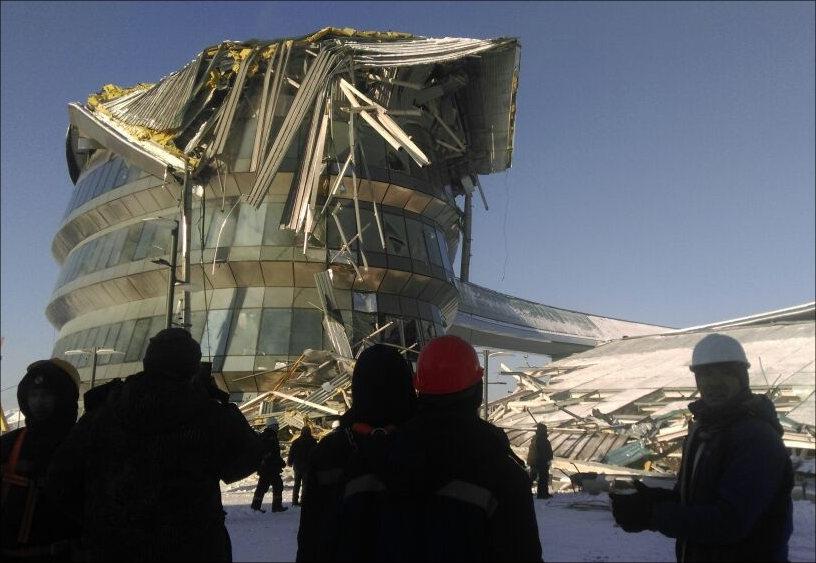 Конструкция обрушилась натерритории комплекса ЭКСПО
