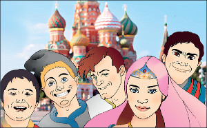 «Не ешьте на улицах» и «не говорите громко». Чему научат мигрантов Василиса и Снегурочка?