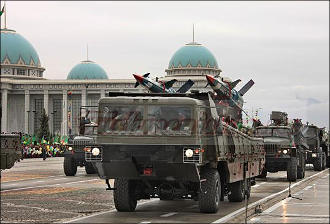 Does Turkmenistan possess military might to counter influx of militants?