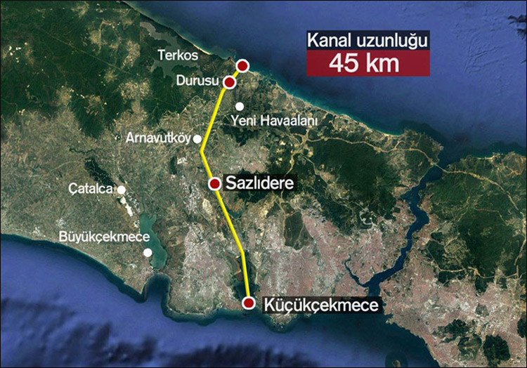 Турция в2015 году приступит кстроительству судоходного канала. альтернативного проливу Босфор