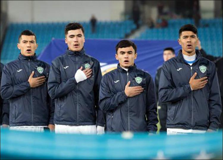 Футболисты молодежной сборной Узбекистана