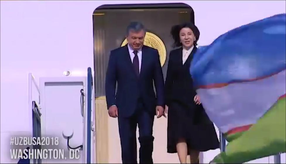 Президент Узбекистана прибыл вСША спервым официальным визитом