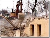 Снос строений в Старом городе Ташкента