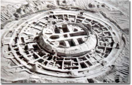 Кой-Крылган-кала, вид с воздуха после раскопок