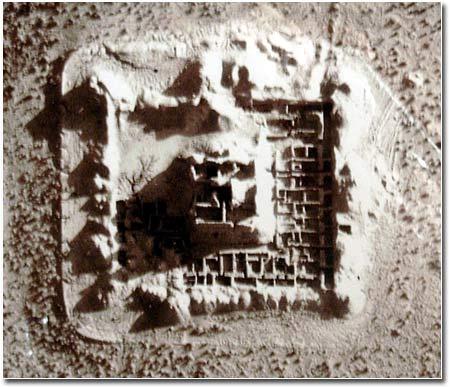 Поселение Якке-Парсан, вид с воздуха