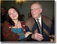 Супруга Рональда Кляйнера - Галина и его отец