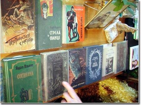 Книги писателя в домашней библиотеке