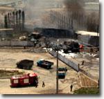 Последствия взрыва сжиженного газа на заправке в Ташкенте, 13 июня 2006 года. Фото ИА Фергана.Ру