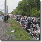 Участок Тезиковки возле железнодорожных путей. Снимок конца 90-х годов XX века