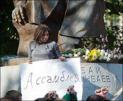 «Лагерь оппозиции» у памятника Абаю Кунанбаеву разогнан. Да здравствует Абай?